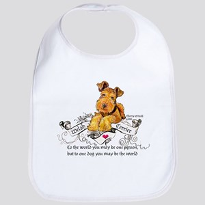 Welsh Terrier World Cotton Baby Bib